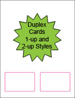Blank Duplex Printable Membership Cards