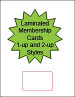 Blank Laminated Membership Cards