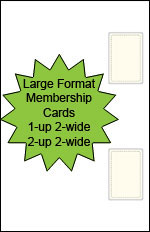 Large Format Blank Membership Cards