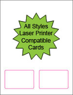 All Styles of Blank Laser Printable Membership Cards