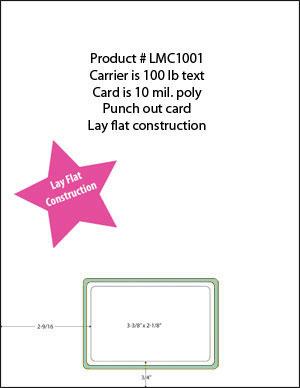 10 Mil 1 Up Membership ID Card  Printable Membership Cards