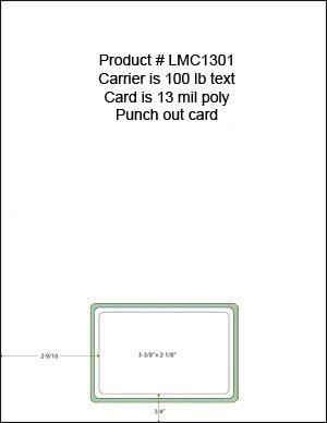 Lmc1301 13 Mil Poly Blank Membership Cards Laser Member