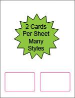 2 Up Blank Laser Printable Membership Cards  Printable Membership Cards