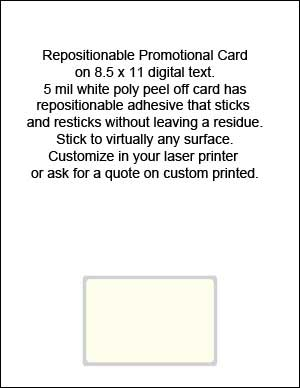 7 mil Repositionable Adhesive Card